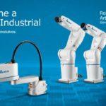 Robôs industriais SCARA são usados em linhas de montagem de caixas