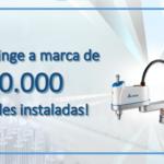 Robôs Industriais da Delta atingem a Marca de 10.000 unidades!
