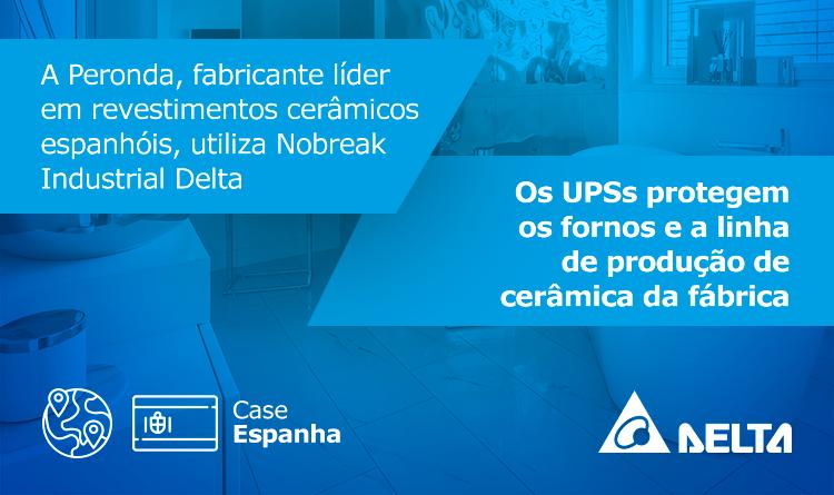 Os UPSs protegem os fornos e a linha de produção de cerâmica da fábrica
